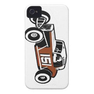 Carro de corridas velho Racearena do tempo de Capas Para iPhone 4 Case-Mate