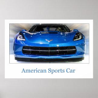 Carro de esportes americano poster