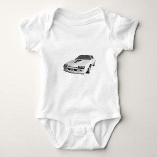 carro de esportes de Camaro do anos 80: modelo 3D: Tshirt