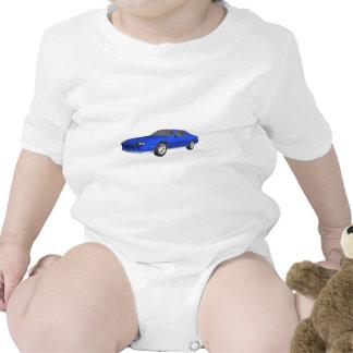 carro de esportes de Camaro do anos 80: modelo 3D: Macacãozinhos Para Bebê