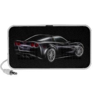 Carro de esportes de Chevy Chevrolet Corvette ZR1 Caixinha De Som Para Mini