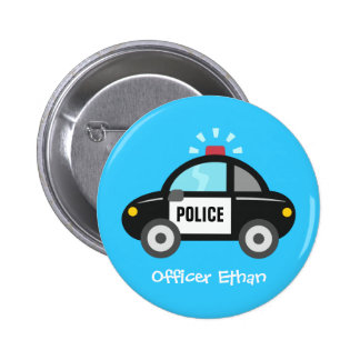 Carro de polícia bonito com a sirene para miúdos botons