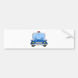 Carro de polícia dos desenhos animados adesivos