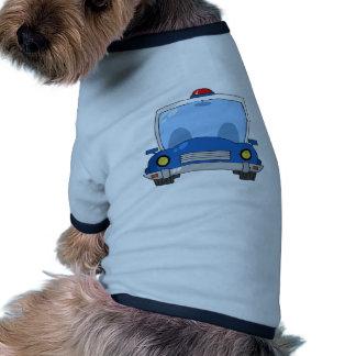 Carro de polícia dos desenhos animados roupa para pets