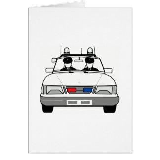 Carro de polícia dos desenhos animados cartão