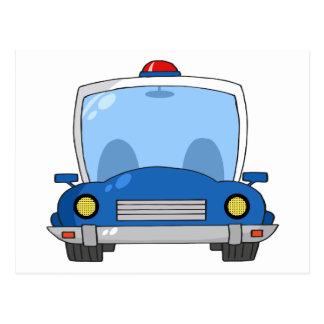 Carro de polícia dos desenhos animados cartão postal