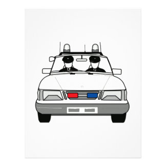 Carro de polícia dos desenhos animados modelos de papel de carta