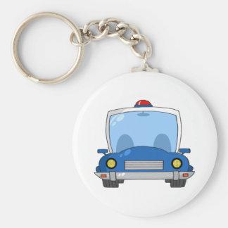 Carro de polícia dos desenhos animados chaveiro