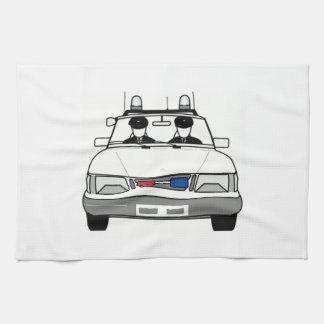 Carro de polícia dos desenhos animados toalhas de mão