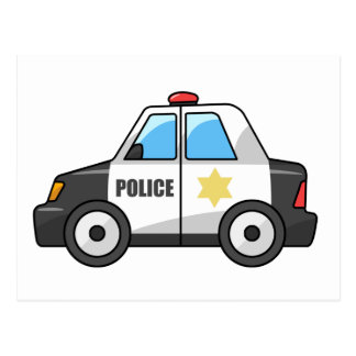 Carro de polícia legal dos desenhos animados cartão postal