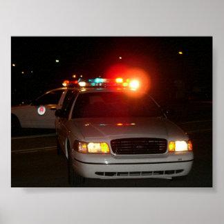 Carro de polícia poster