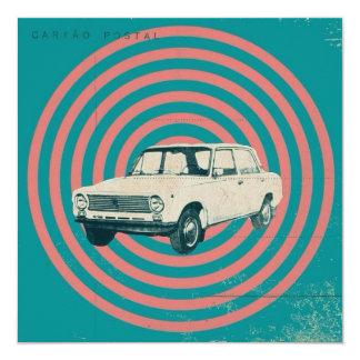 Carro de URSS Convite Quadrado 13.35 X 13.35cm