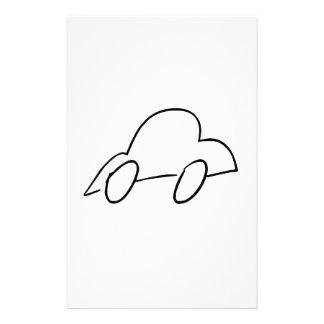 Carro desenhado mão dos desenhos animados papéis personalizados