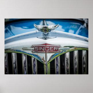 Carro do cantor do vintage poster