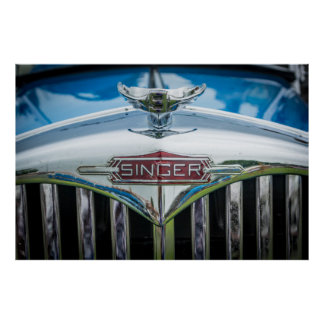 Carro do cantor do vintage pôster