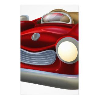 Carro do convertible dos desenhos animados