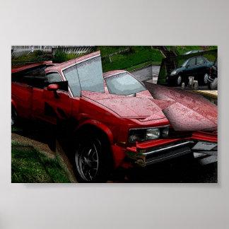carro do cubism poster