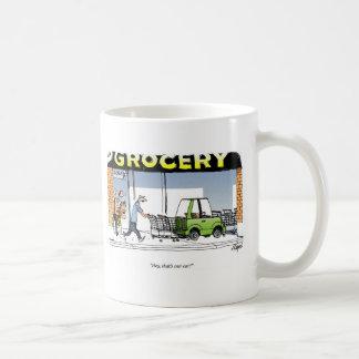 Carro do mantimento caneca de café