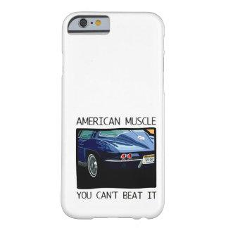 Carro do músculo, clássico e azul americanos V8 do Capa Barely There Para iPhone 6