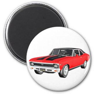 Carro do músculo de 1968 vermelhos imã