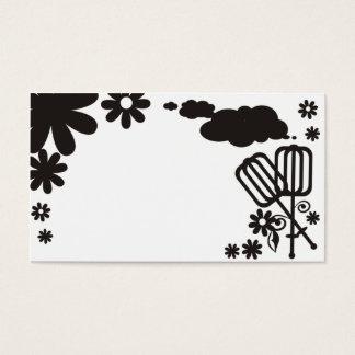 carro do negócio das flores dos utensílios dos cartão de visitas