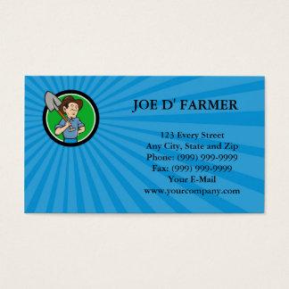Carro do negócio dos desenhos animados do círculo cartão de visitas
