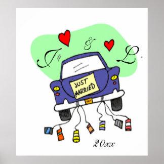 Carro do recem casados poster