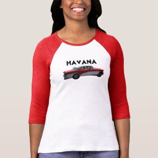Carro do vermelho de Havana Cuba Tshirts