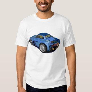 Carro dos desenhos animados camisetas