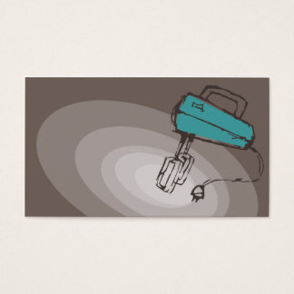 carro elétrico do negócio do cozinhar do cozimento cartão de visitas