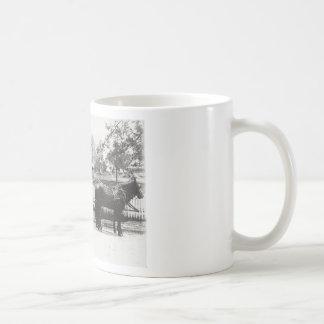 Carro fúnebre caneca de café
