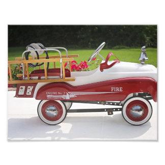Carro genérico do Firetruck do carro do pedal do Impressão De Foto