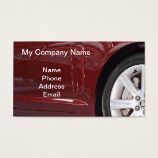Carro luxuoso importado vermelho cartão de visitas