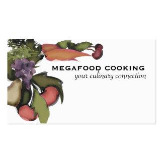 Carro mega do negócio do cozinhar da planta do veg modelo cartão de visita