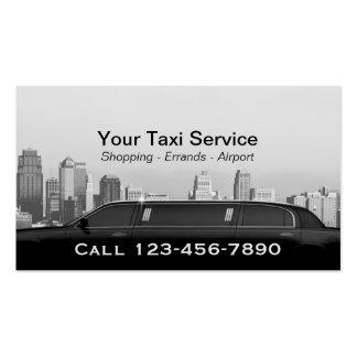 Carro moderno do profissional da cidade do serviço cartão de visita