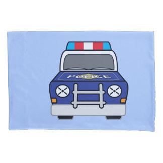 Carro-patrulha azul corajoso da polícia