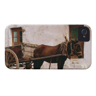 Carro puxado a cavalo antiquado capas para iPhone 4 Case-Mate
