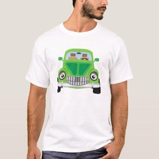 Carro verde dos desenhos animados camiseta