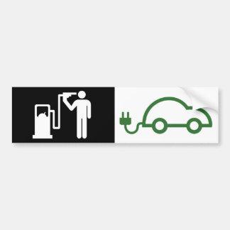 Carro verde elétrico do viciado humano do adesivo para carro