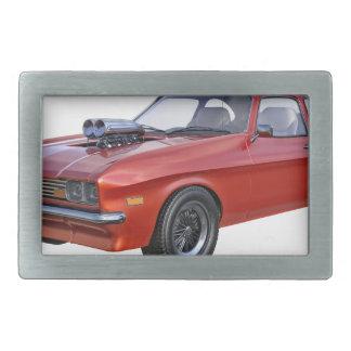 carro vermelho do músculo dos anos 70