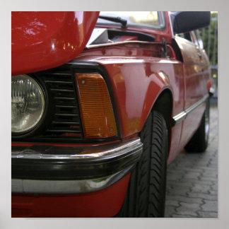 Carro vermelho impressão
