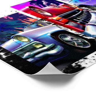 Carros clássicos 20 x 16 papel de poster do