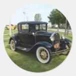 Carros clássicos adesivo redondo