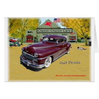 Carros clássicos de Cruisin Desoto 1948 Cartão Comemorativo