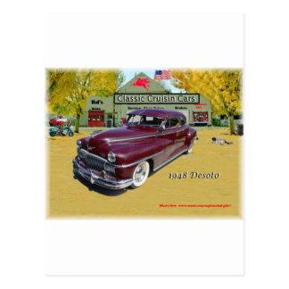 Carros clássicos de Cruisin Desoto 1948 Cartão Postal