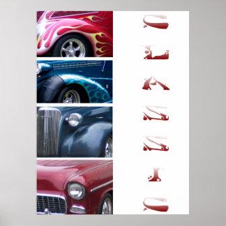 Carros clássicos poster