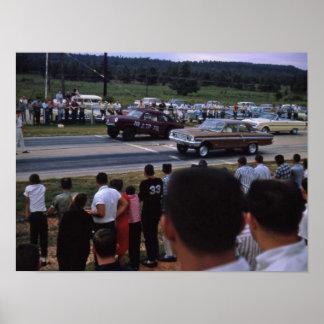 Carros de corridas do vintage pôsteres