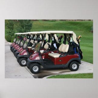 Carros de golfe poster