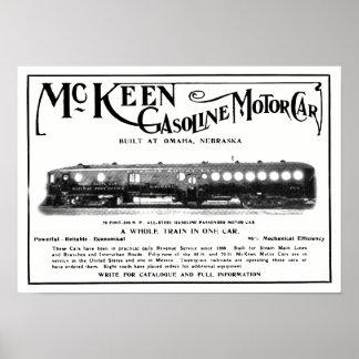 Carros de motor 1911 da gasolina de McKeen Pôster