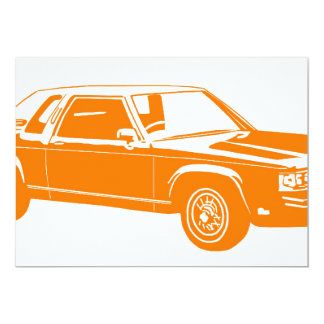 carros do americano dos anos 80 convites personalizados